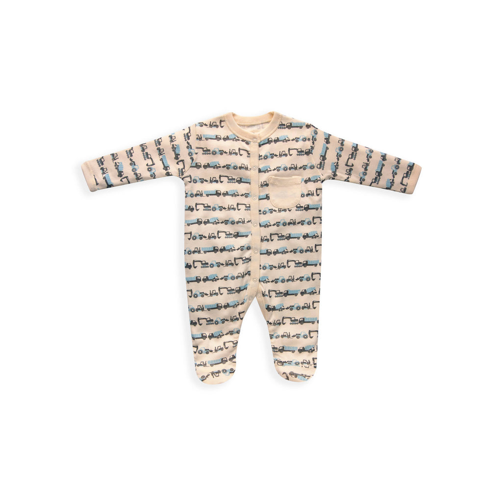 Skylar Luna- Constructions Baby Footed Bodysuit