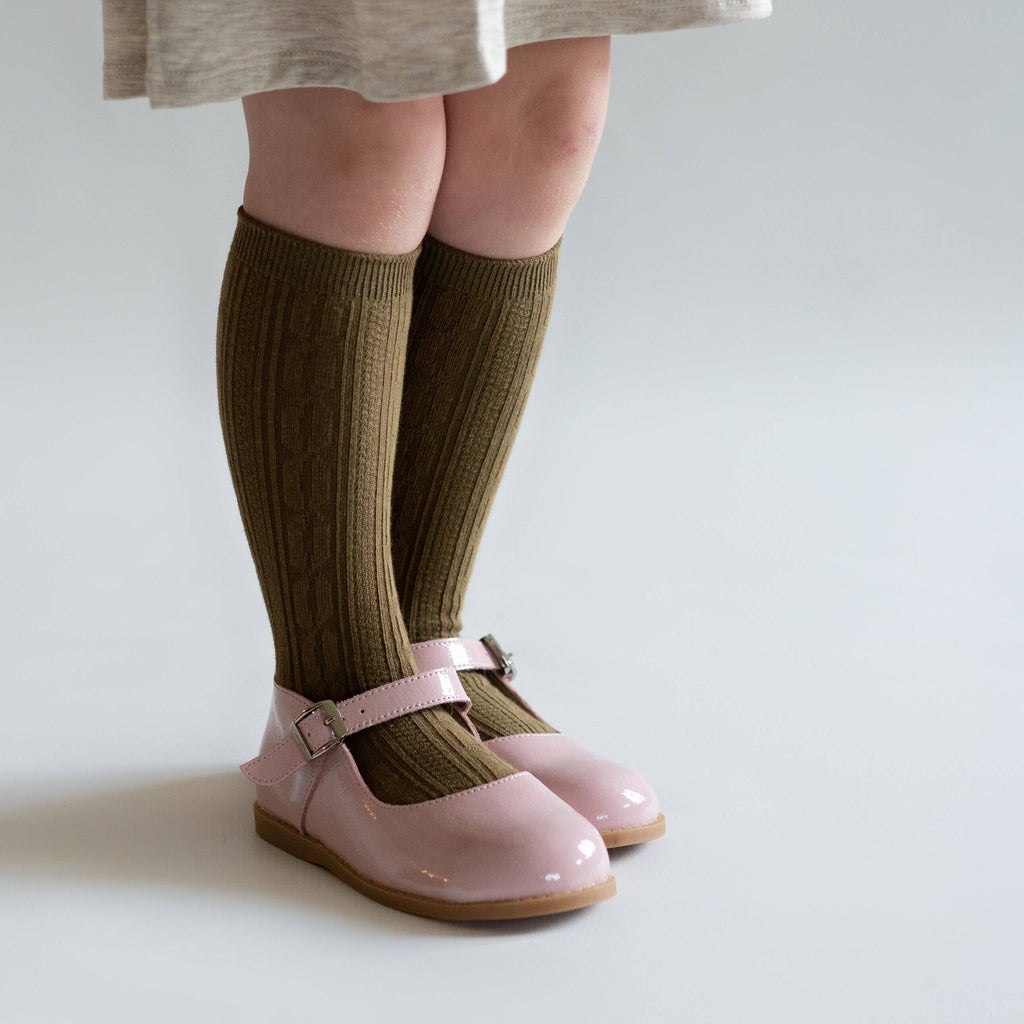 Little Stocking Co. - Olive Knee High Socks