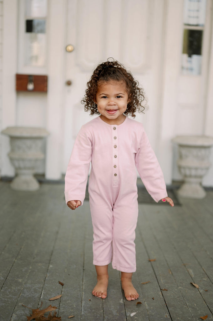 Emma Grace Shoppe - 100% Organic Long sleeve Coverall - Mauve