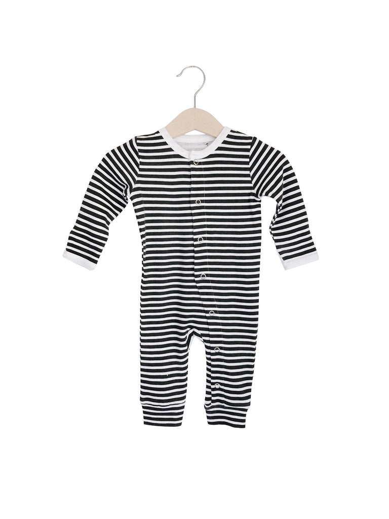 Modern Burlap - Organic Coverall | Stripes