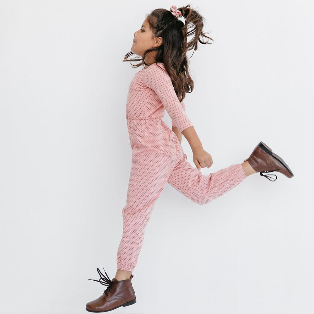 Alice + Ames- THE JUMPSUIT IN CACTUS ROSE DOT