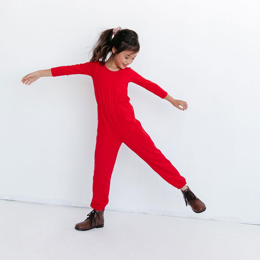 Alice + Ames- THE JUMPSUIT IN CACTUS RED