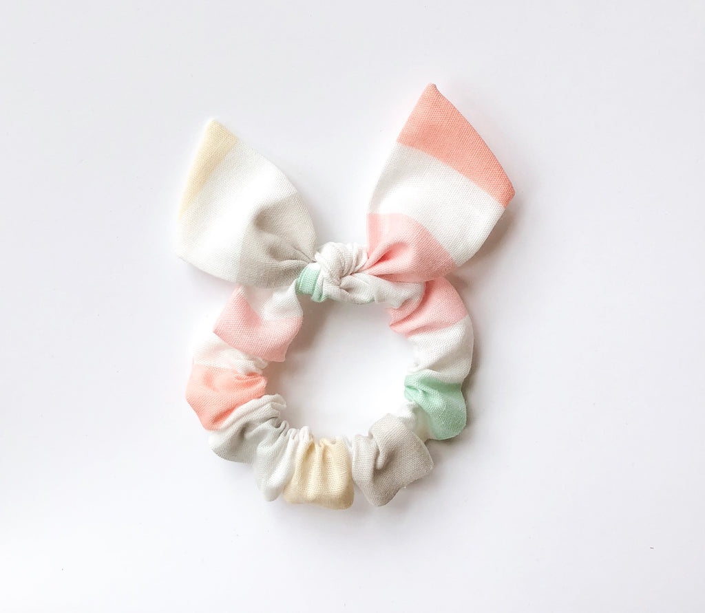 Camryn Girl Handmade - Colorblock Scrunchie Bow
