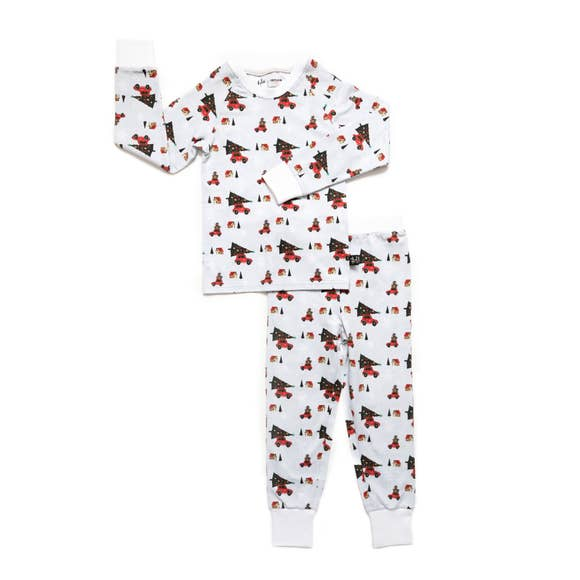 Tiny Trendsetter - (Lola & Taylor) - Holiday Cheer Kids Pajama Set