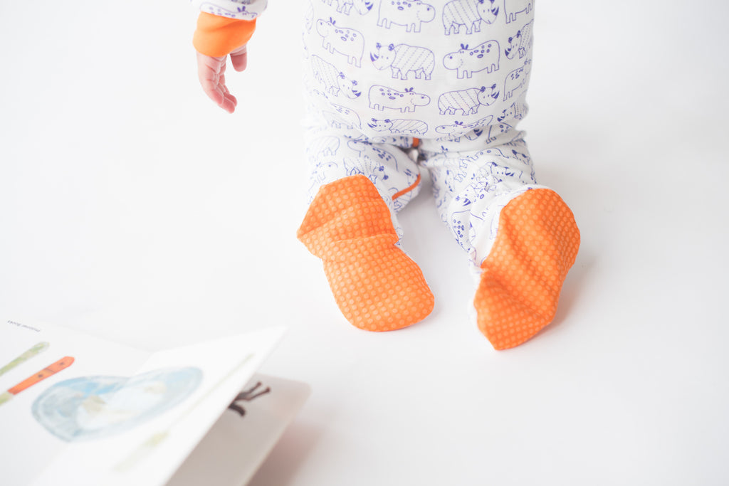 Mirasa Design - Hippo and Rhino Footed Onesie