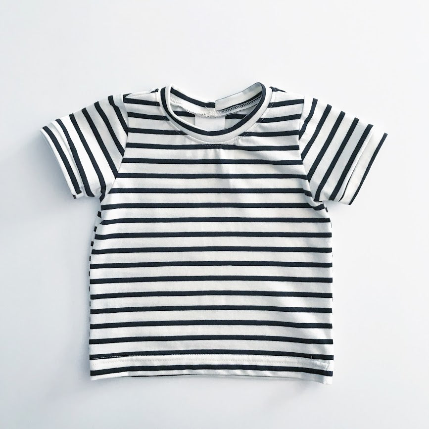 Bohemian Babies - Basic Tee: White Stripes