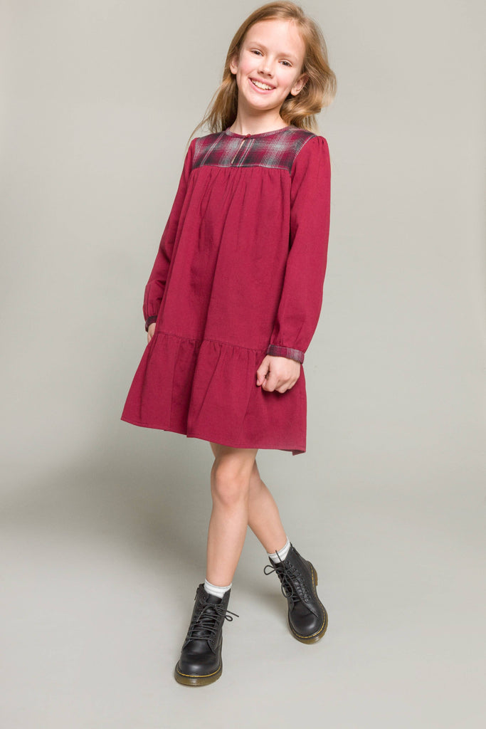 Beet World - Sophie Dress in Winter Plaid