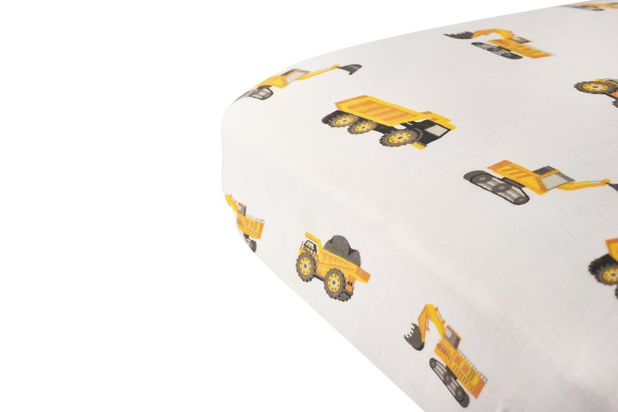 Newcastle Classics - Yellow Digger Crib Sheet Yellow