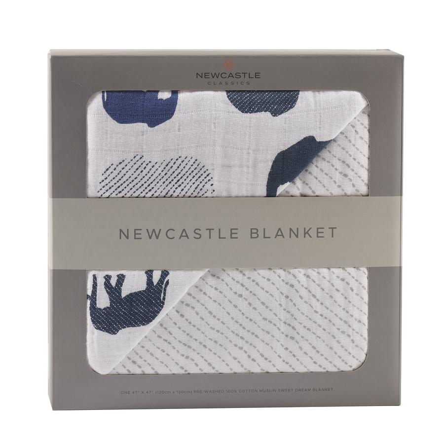 Newcastle Classics - Blue Elephants and Spotted Wave Newcastle Blanket