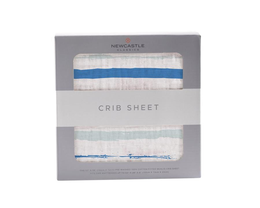 Newcastle Classics - Ocean Stripe Crib Sheet