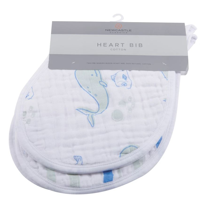 New Castle Classics - Ocean Heart Bibs Set of 2