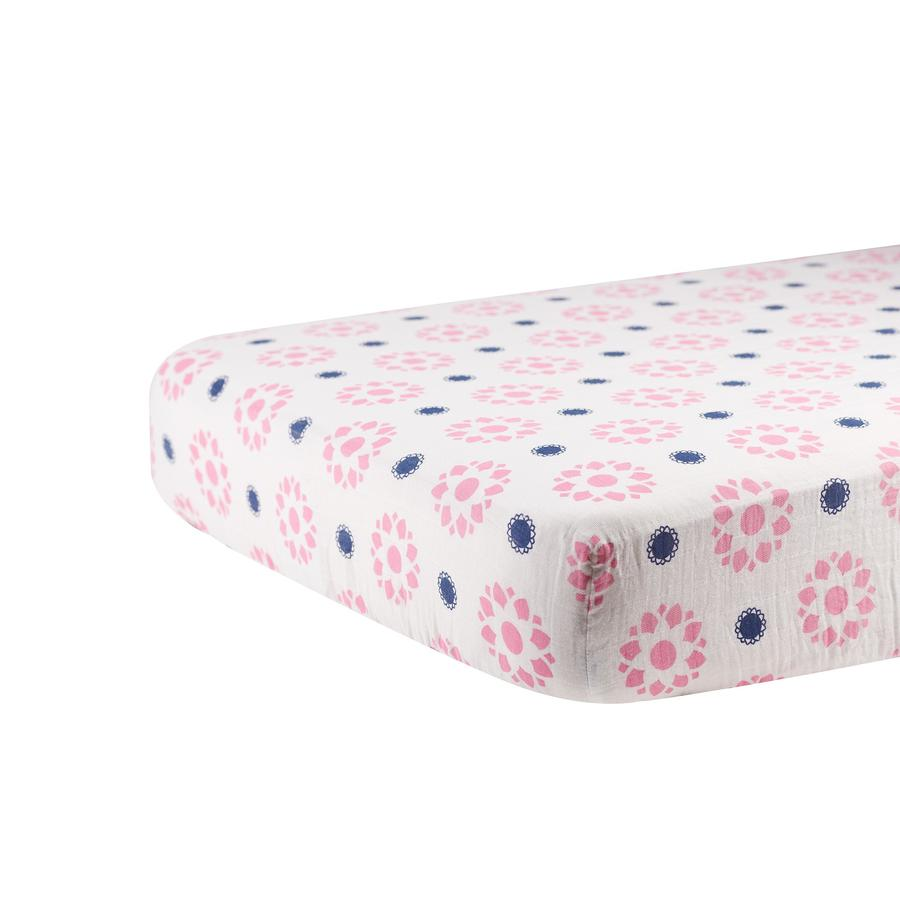 Newcastle Classics - Primrose and Indigo Crib Sheet