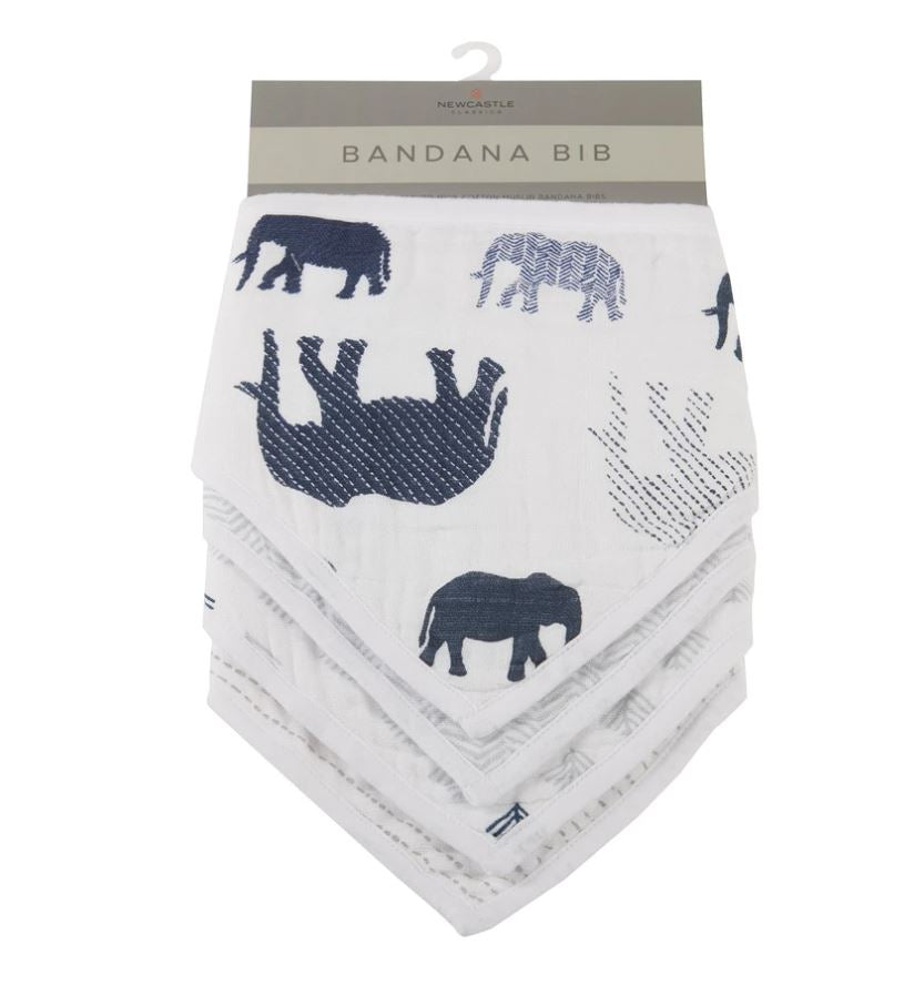 New Castle Classics - n The Wild Elephant Bandana Bibs Set of 4