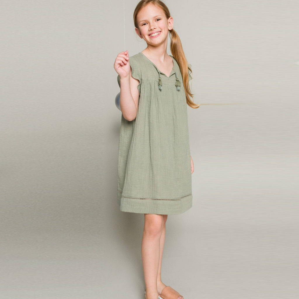Beet World - Adelaide Dress in Laurel Green