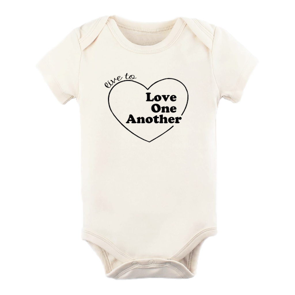 Tenth & Pine - Live to Love One Another Short Sleeve Onesie