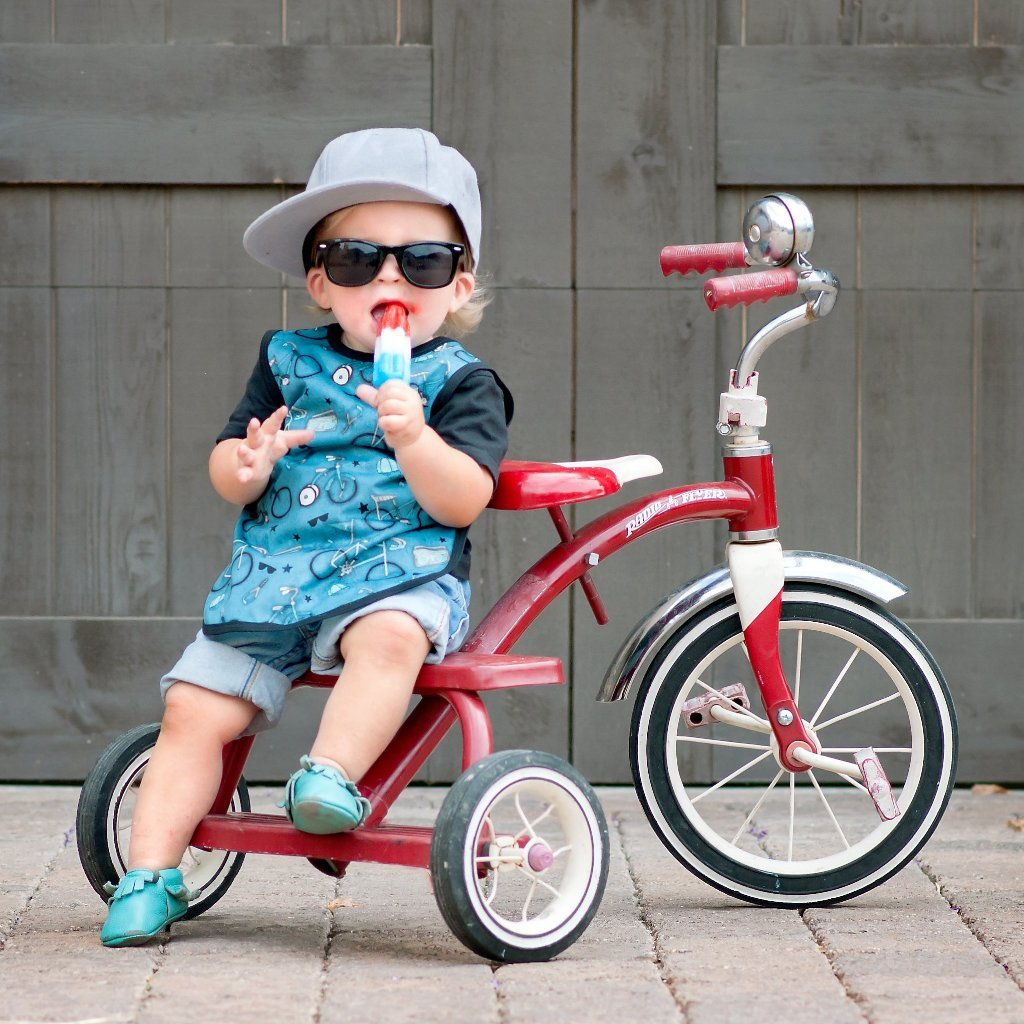 BapronBaby - Bicycles In Blue Toddler Bapron