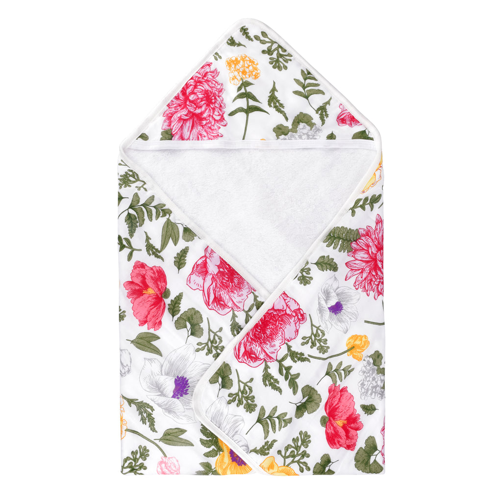 Bambi Bamboo - Bamboo Terry Muslin Floral Hooded Towel