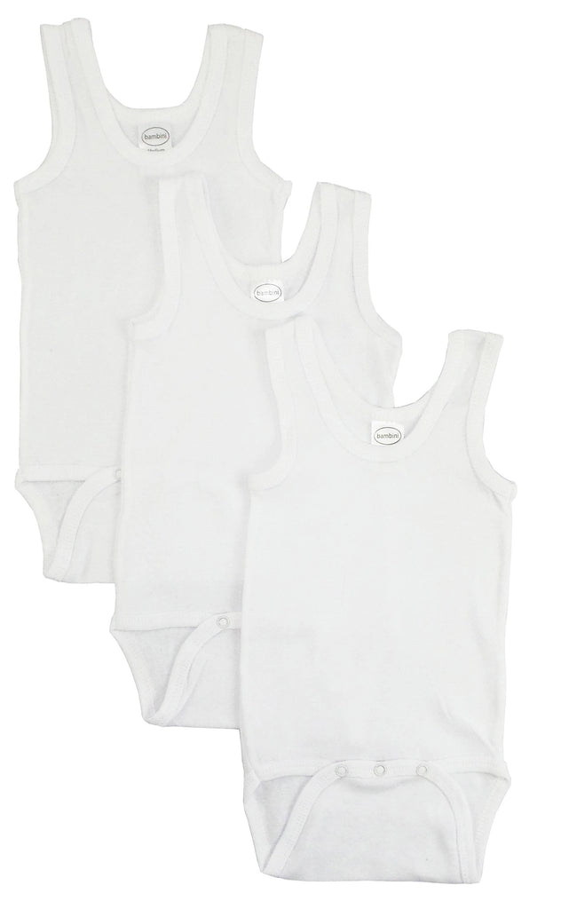 Bambini Infant Wear inc. - Bambini White Tank Top Onezie