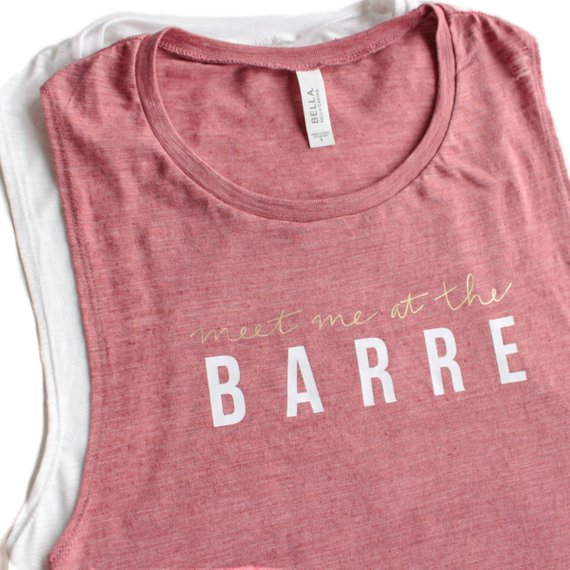 Overtype - Meet Me At The Barre Tank - Mauve