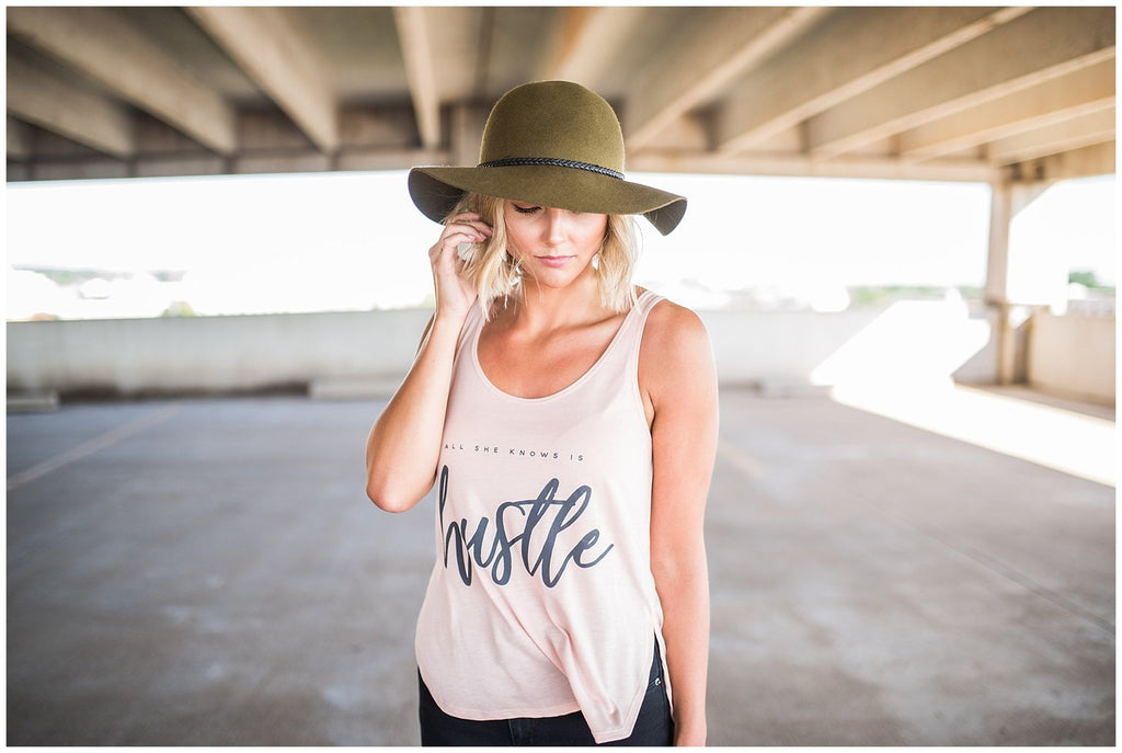 Ramble and Company - All She Knows is Hustle Graphic Tank
