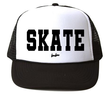 Bubu - Skate White/Black Trucker Hat
