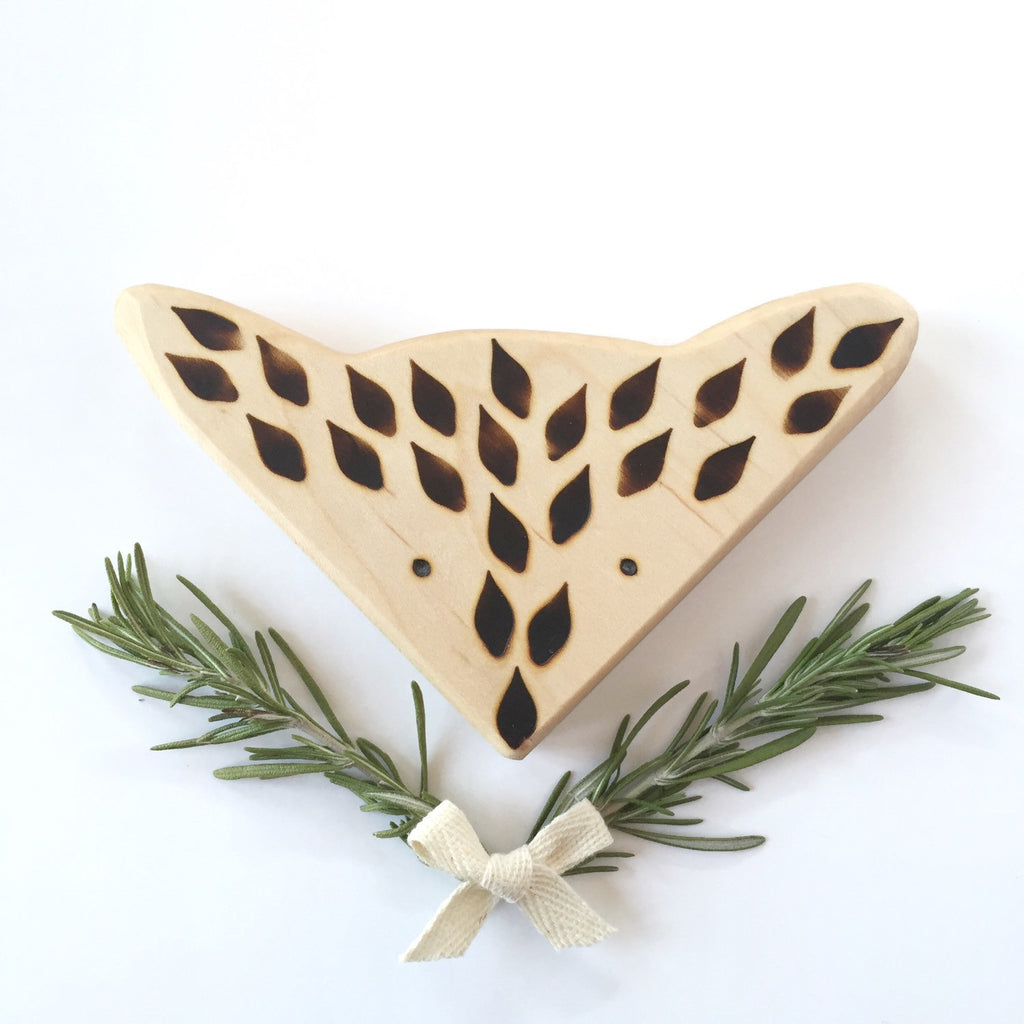 Clover and Birch - Fox Wooden Teether