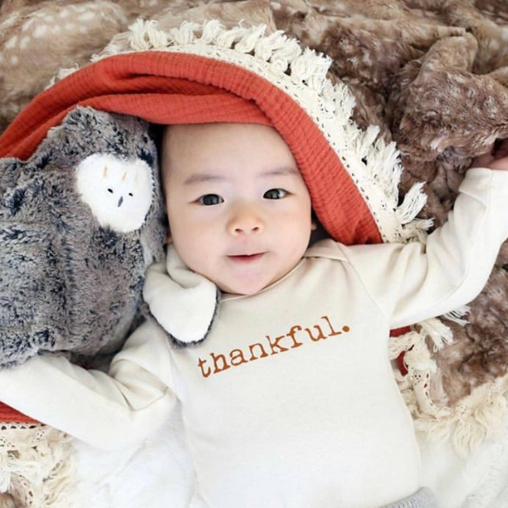 Tenth & Pine - Thankful Long Sleeve Bodysuit
