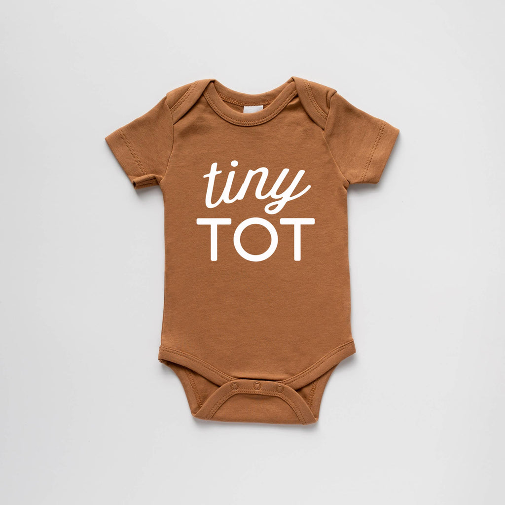 The Oyster's Pearl - Camel Organic Tiny Tot Bodysuit
