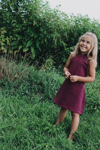 Young and Free Apparel - Burgundy Play Dress