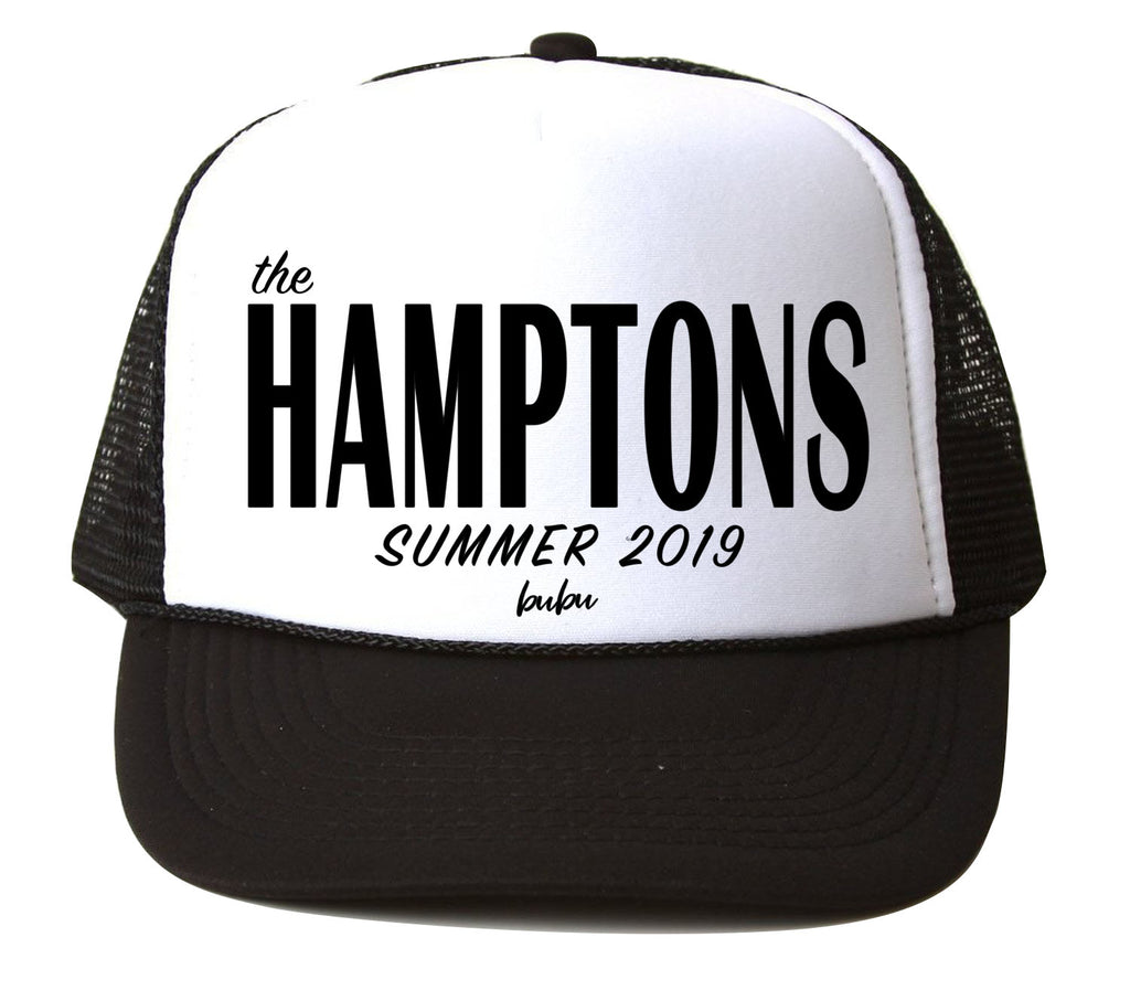 Bubu - Hamptons White / Black Trucker Hat