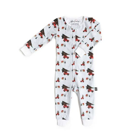 Tiny Trendsetter - (Lola & Taylor) - Holiday Cheer Infant Romper