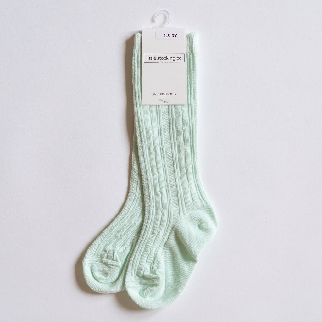 Little Stocking Co. - Mint Knee High Socks