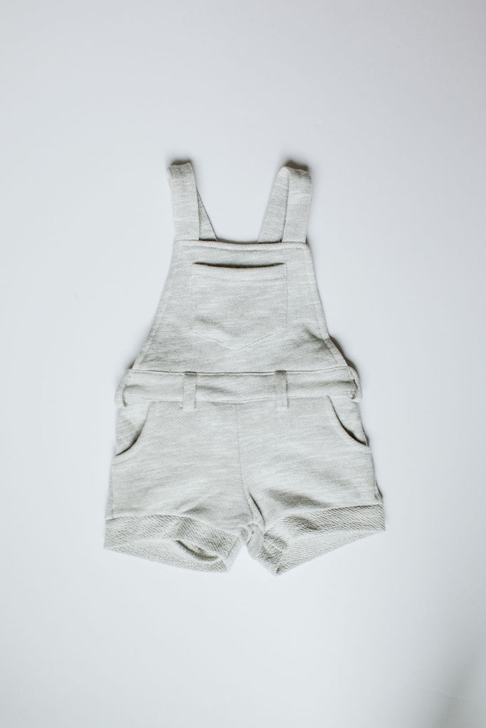 Orcas Lucille - Short Overalls - Heather Grey