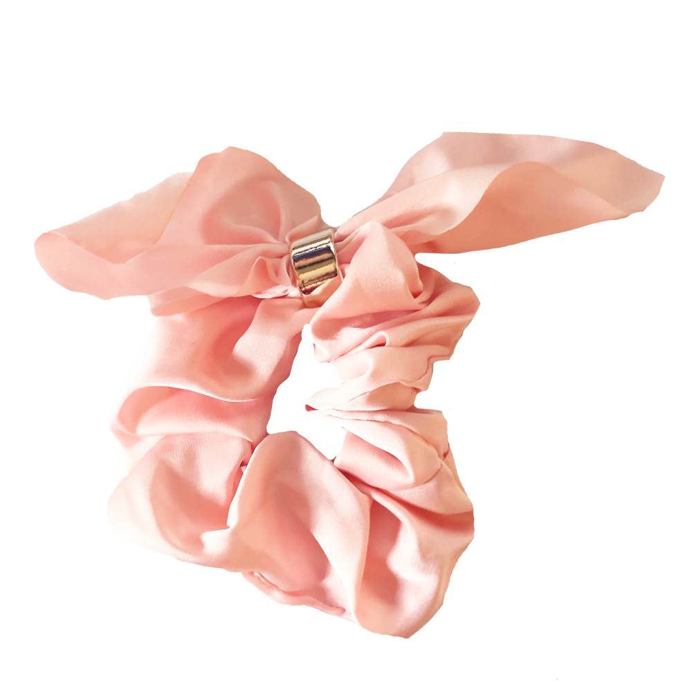 Headbands of Hope - Pink Tie Scrunchie