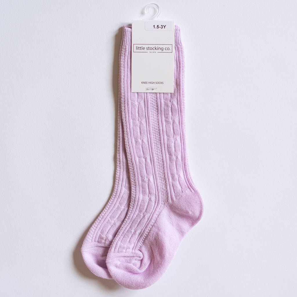 Little Stocking Co. - Lavender Knee High Socks