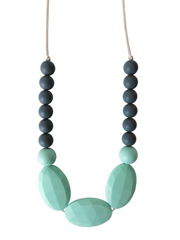 Chewable Charm - The Hudson - Mint Teething Necklace