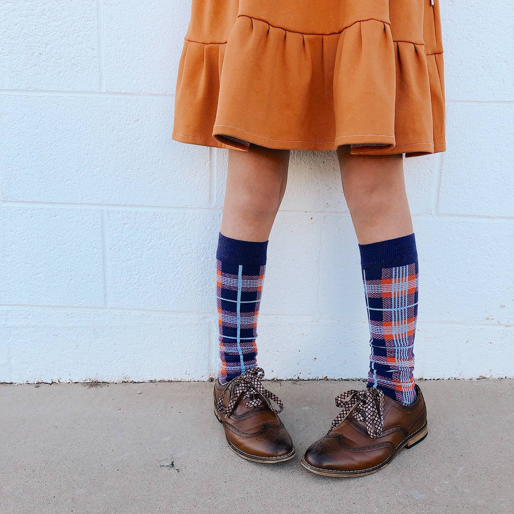 Lemon + Lucy - Winter Plaid Knee High Socks