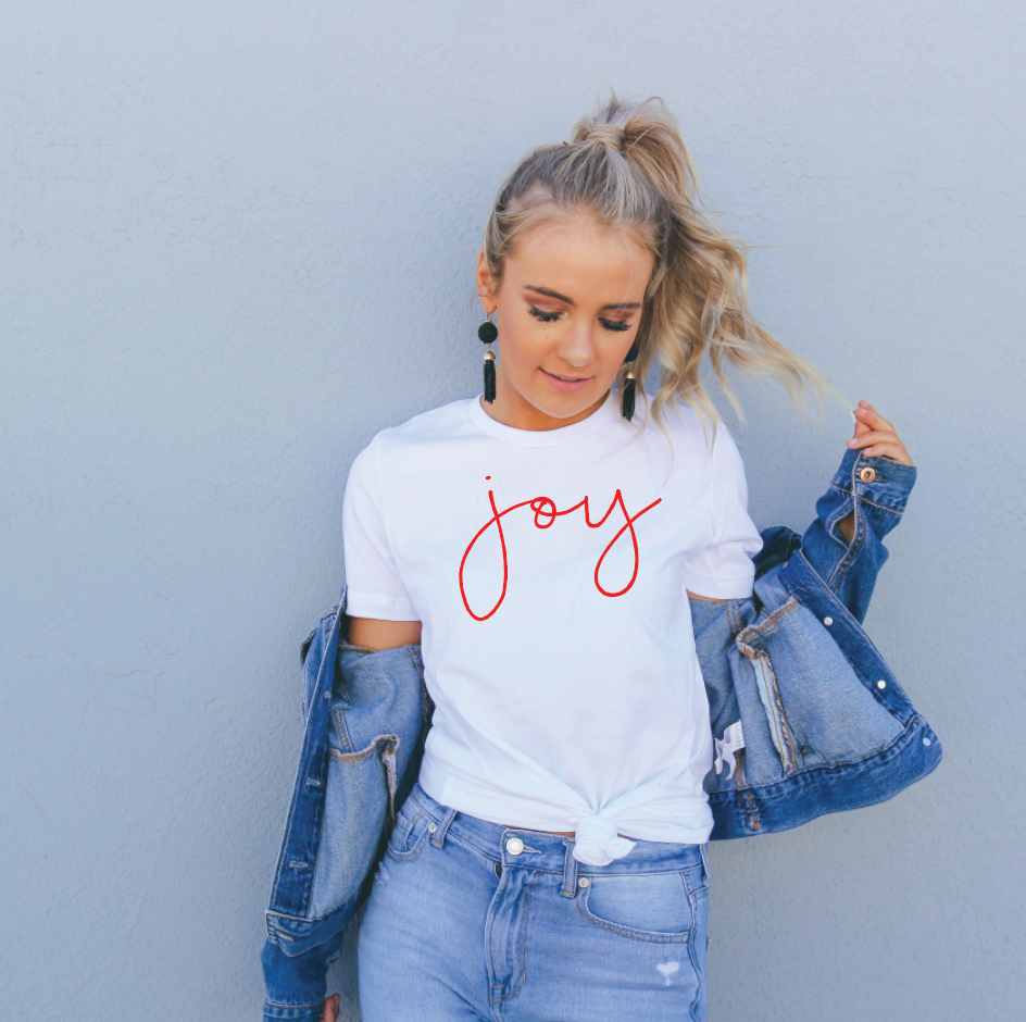 Saved by Grace Co. - Joy - Short Sleeved Tee