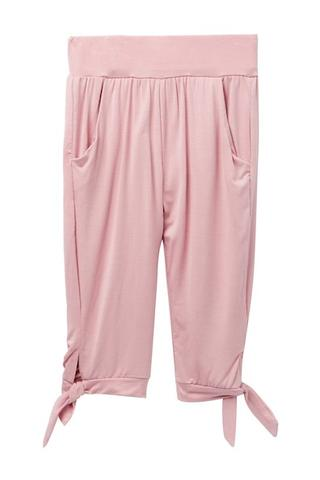 Young and Free Apparel - Tie Capris - Blush