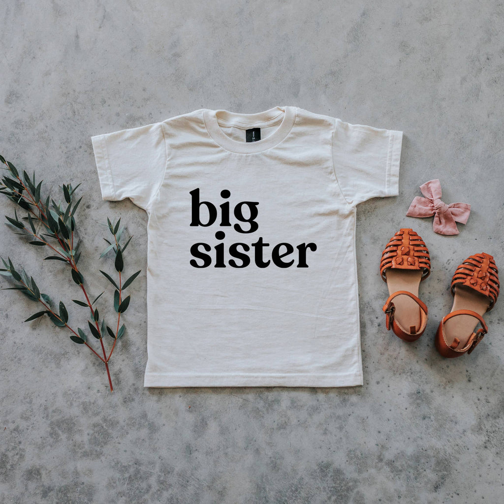 The Oyster's Pearl - Cream Big Sister Organic Kids Tee