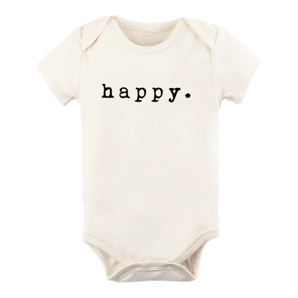 Tenth & Pine - Happy  // Short Sleeve Onesie