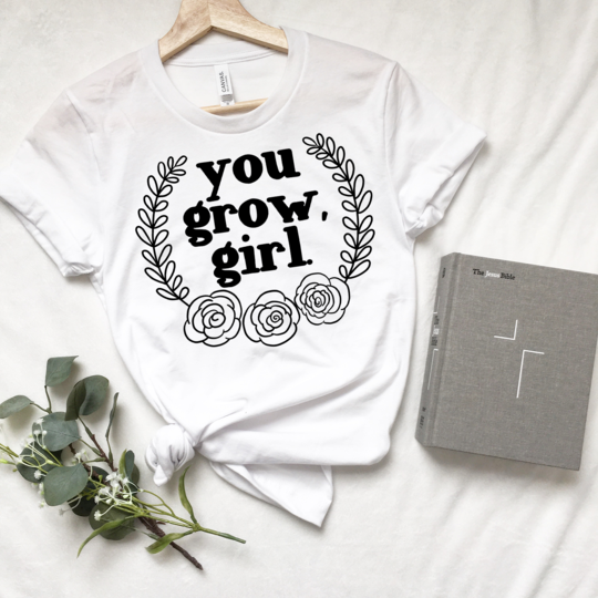 Saved by Grace Co. - You Grow Girl Short Sleeved Tee