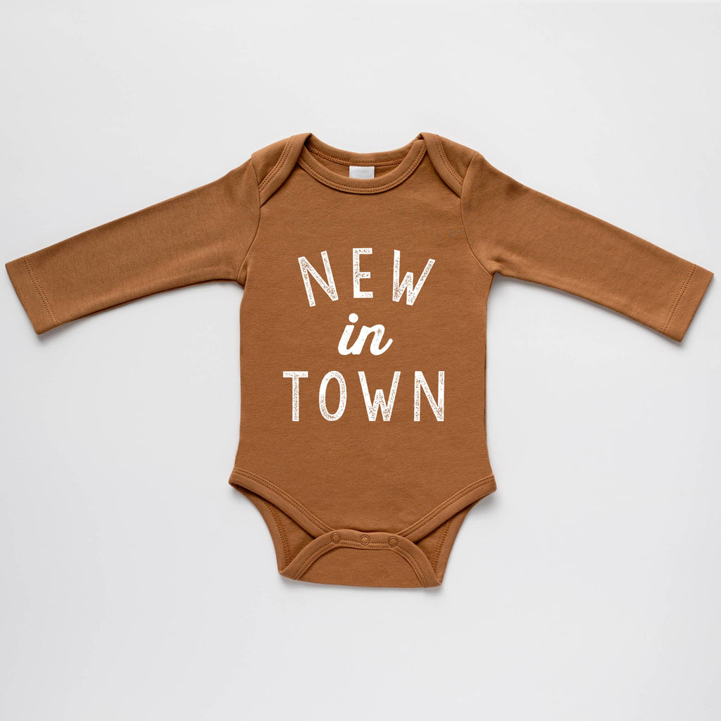 The Oyster's Pearl - Camel Organic New in Town Bodysuit