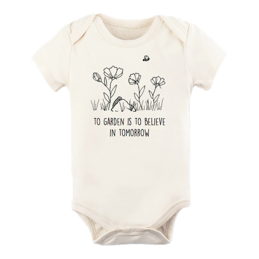Tenth & Pine - To Garden Is To Believe In Tomorrow Short Sleeve Bodysuit