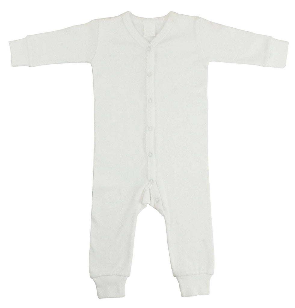 Bambini Infant Wear inc. - Interlock White Union Suit Long Johns