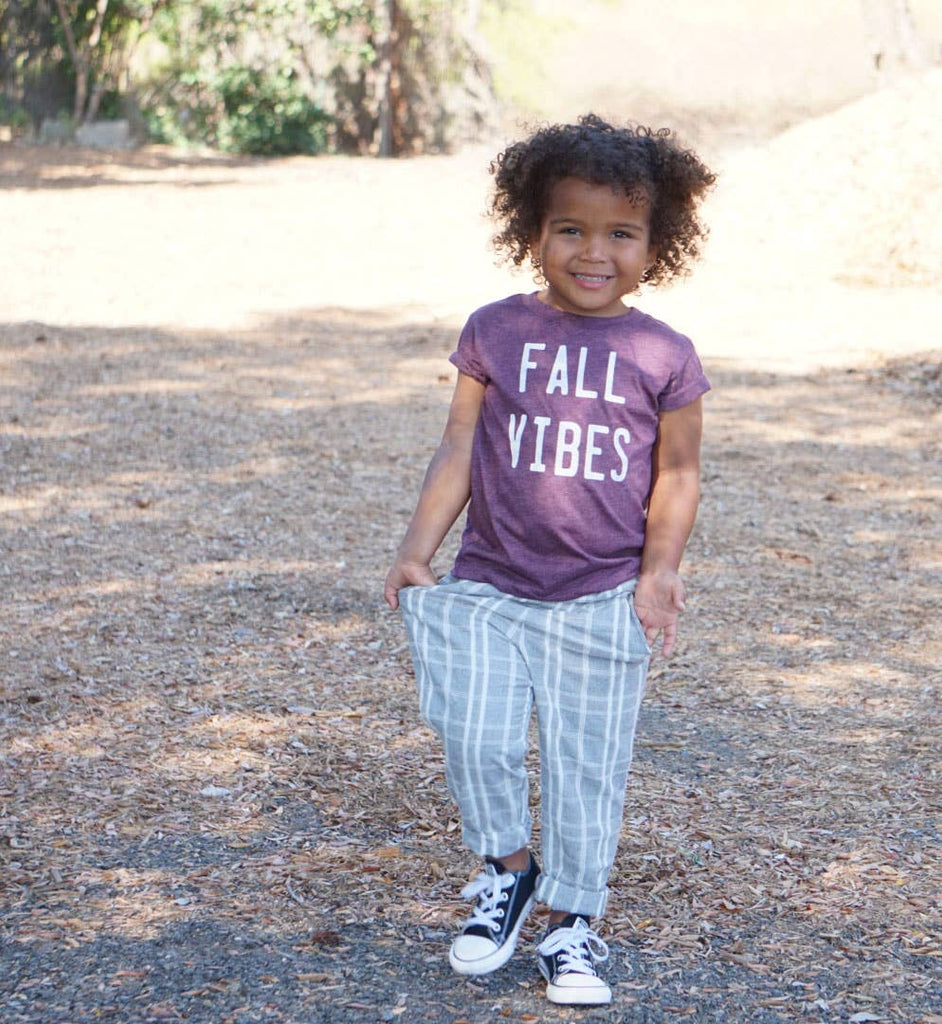 Trio Trendy Threads - Heather Maroon Fall Vibes Tee