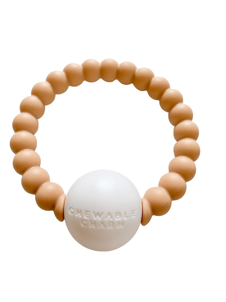 Chewable Charm - Teether Toy Rattle - Nude