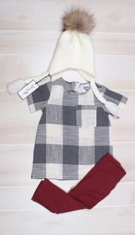 Young and Free Apparel - Soft Cotton Baby Leggings - Oxblood