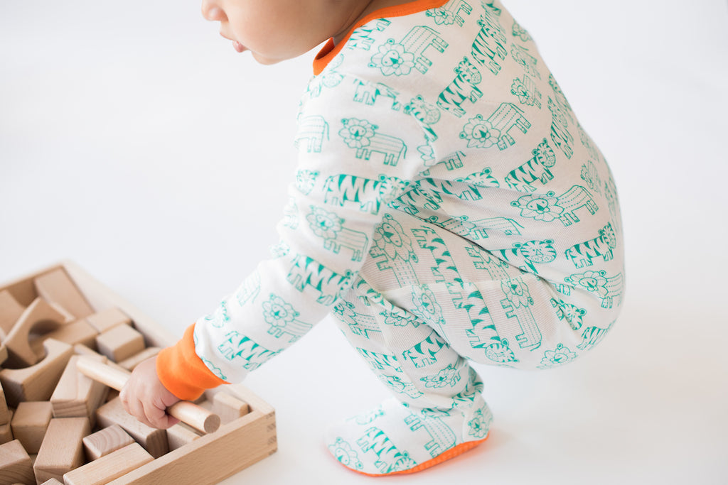 Mirasa Design - Safari Footed Onesie
