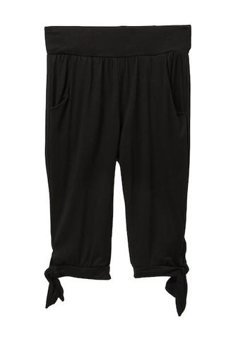 Young and Free Apparel - Tie Capris - Black